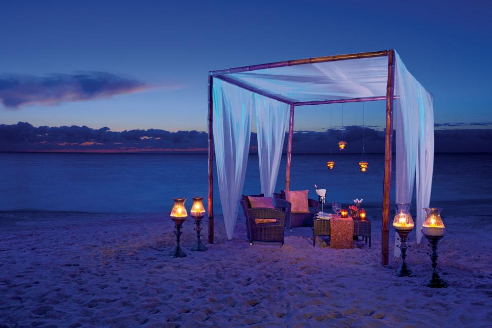 Romantic dinner at Secrets Capri Riviera Cancun in Playa Del CarmenMexico
