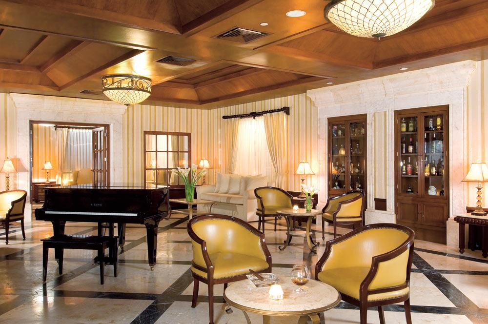 Lobby lounge at Secrets Capri Riviera Cancun in Playa Del CarmenMexico