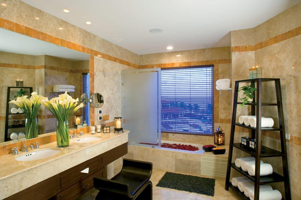 Presidential Suite full bathroom at Secrets Capri Riviera Cancun in Playa Del CarmenMexico