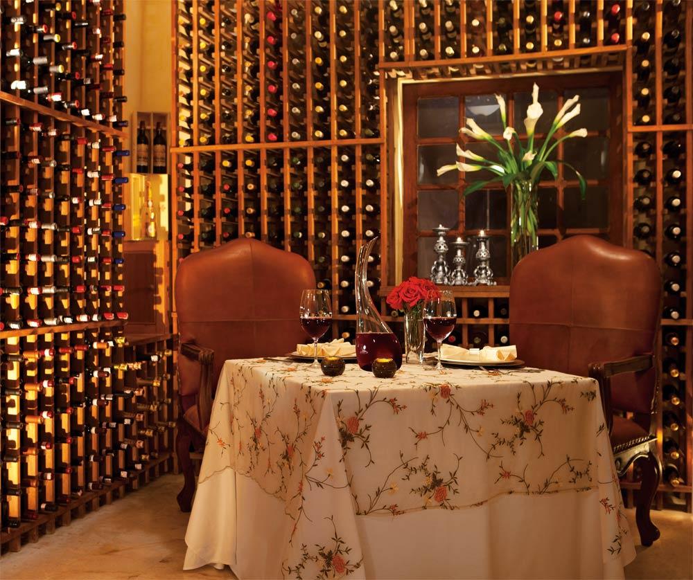 Private dinner at the wine cellar of Portofino Restaurant at Secrets Capri Riviera Cancun in Playa Del CarmenMexico