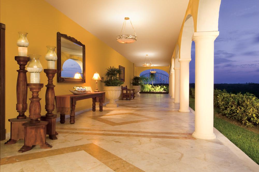 Guestroom corridor at Secrets Capri Riviera Cancun in Playa Del CarmenMexico