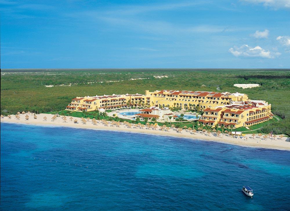 Aerial view of Secrets Capri Riviera Cancun in Playa Del CarmenMexico