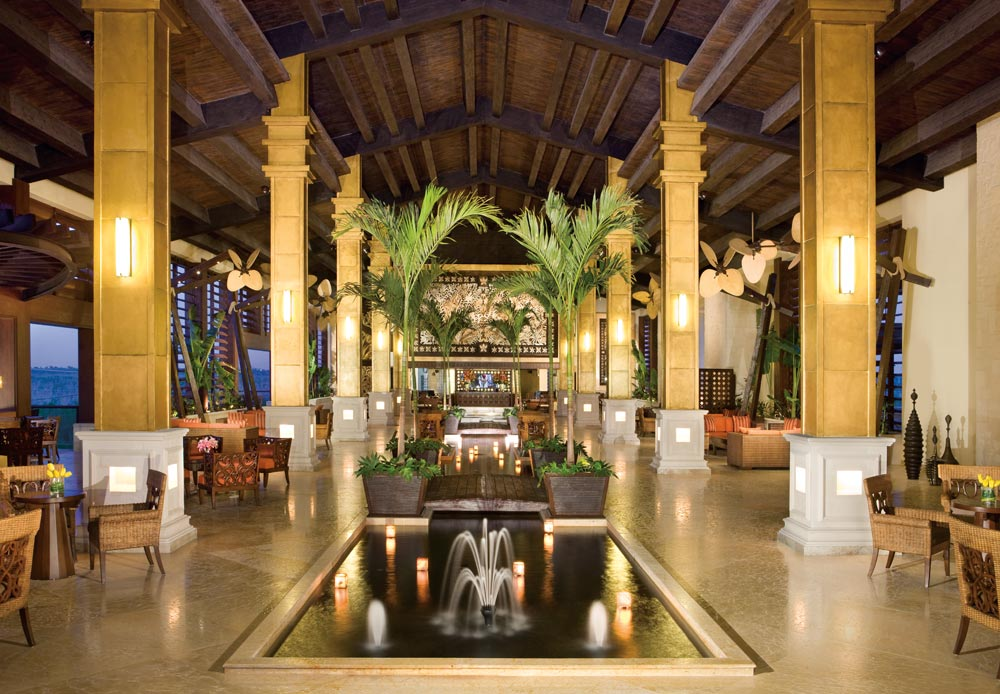 Lobby by Night at Dreams Riviera Cancun Resort and Spa