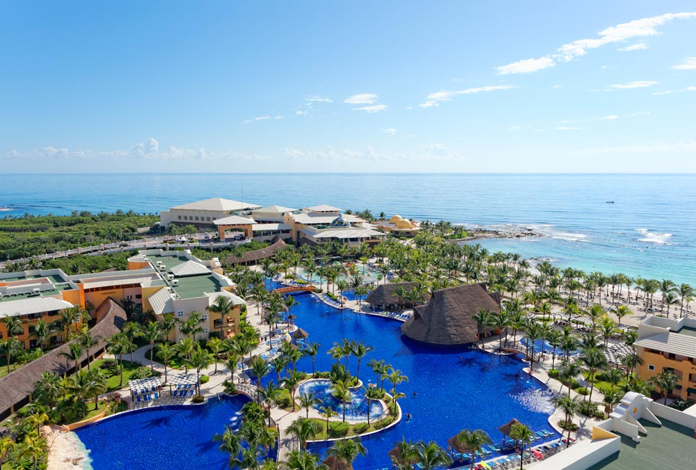 Aerial View of Barcelo Maya Palace Deluxe