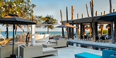 Lounge and Dining with Beach Views at SO Sofitel Hua Hin, Cha-am, Thailand