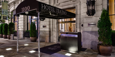 Entrance of Hotel Teatro, Denver