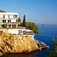 Villa Dubrovnik overlooks the crystal blue-turquoise watersof the Adriatic and the Old City of Dubrovnik