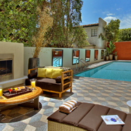 Outdoor Pool and Lounge at Hotel Palomar Beverly Hills, Los Angeles, CA, United States