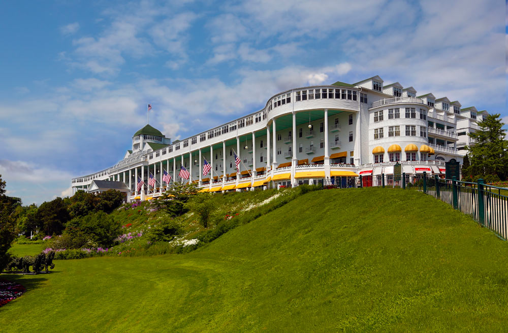 Exterior view of the Grand Hotel Mackinac Island