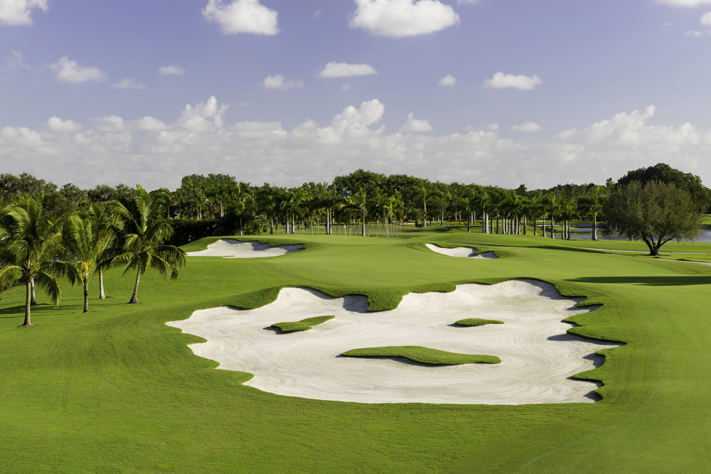 Blue Monster Hole Golf Course at Trump International Doral, Miami, FL