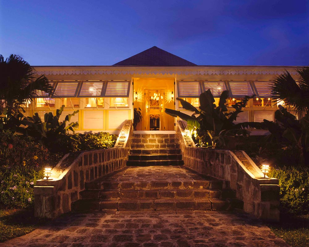 Exterior of Nisbet Plantation Beach Club NevisSaint Kitts and Nevis