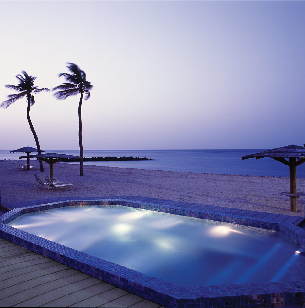 Jacuzzi at Nisbet Plantation Beach Club NevisSaint Kitts and Nevis