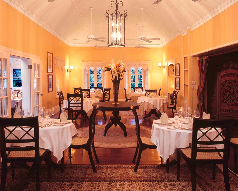 Dining at Nisbet Plantation Beach Club NevisSaint Kitts and Nevis