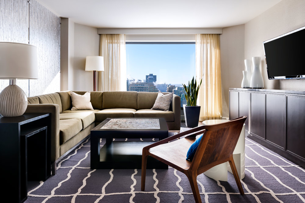 Suite Living Area at The Westin OttawaONCanada