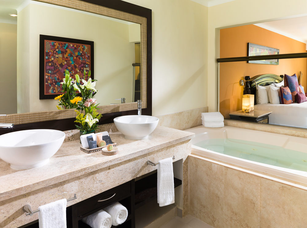 Jacuzzi Junior Suite Bath at El Dorado Royale Spa Resort