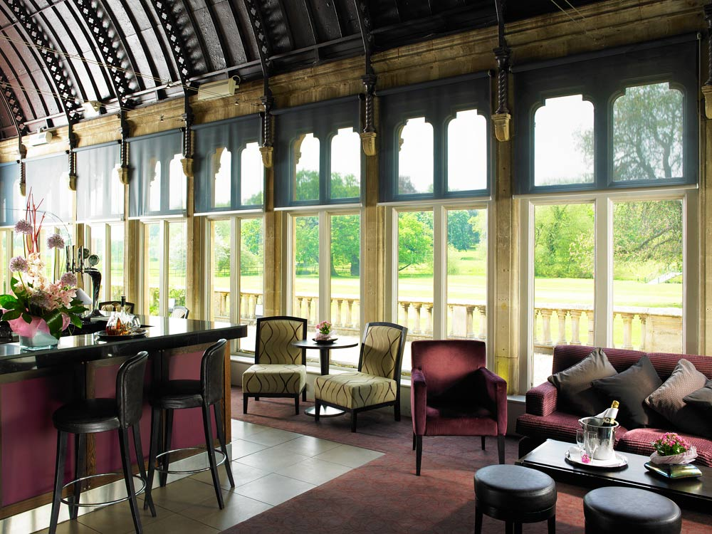 Conservatory Bar at Walton Hall WellesbourneWarwickshireUnited Kingdom