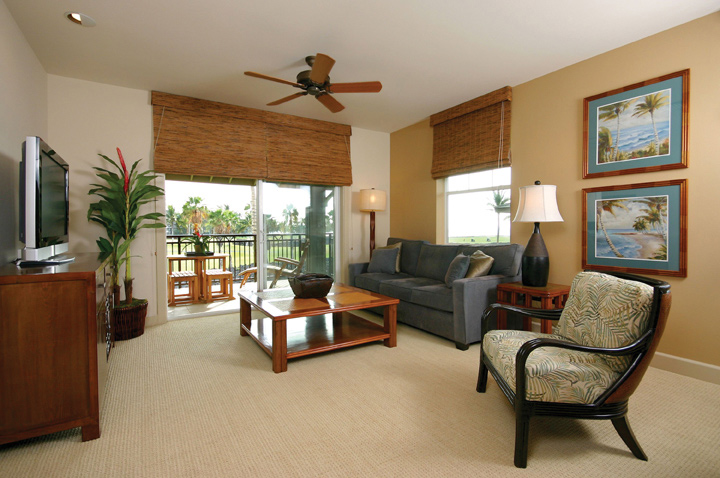 Suite Living Room at Halii Kai at WaikoloaHI