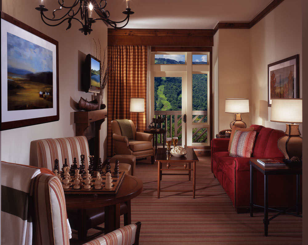 Suite Living Area at Stowe Mountain Lodge