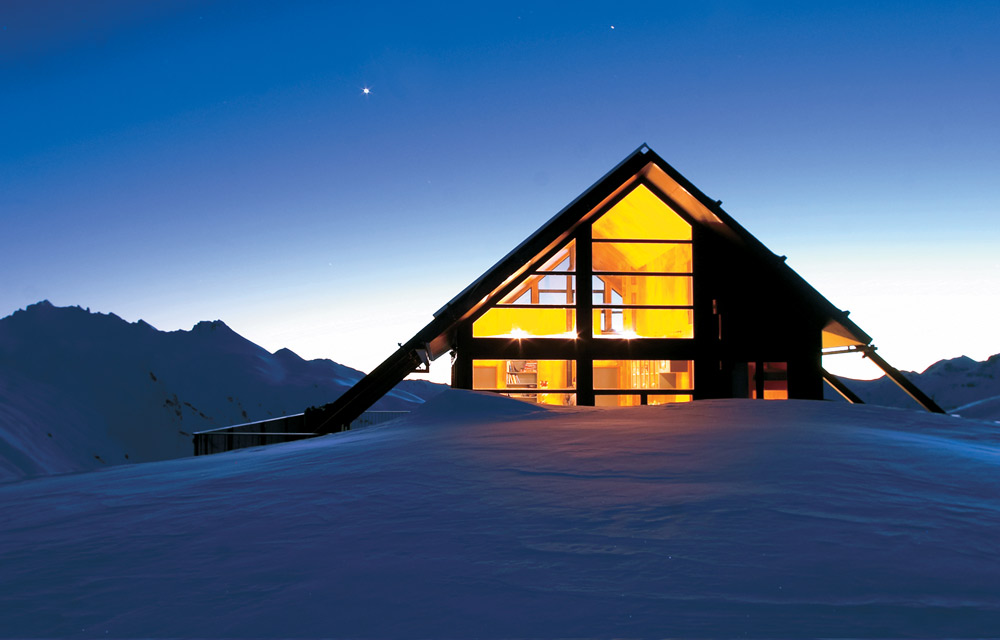 Chalet by Dusk at Whare Kea