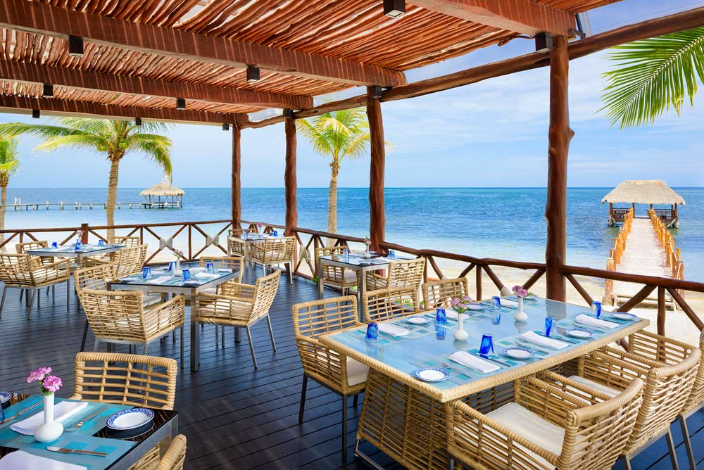 Dine by the beach at Azul Beach HotelPuerto MorelosMexico