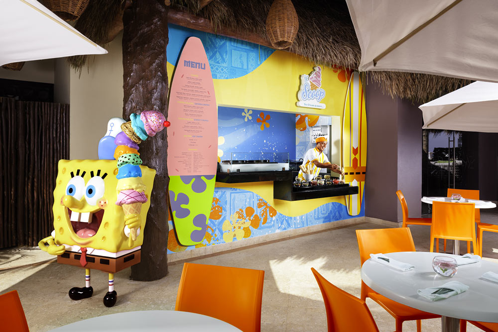 Ice cream shop at Azul Beach HotelPuerto MorelosMexico