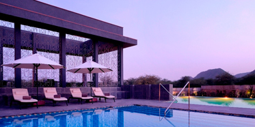 Main pool at Lebua Resort JaipurRajasthanIndia