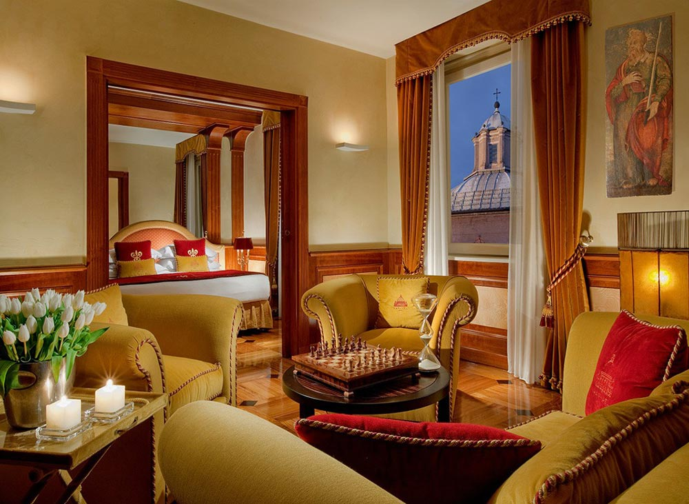 Suite Lounge at Hotel Raphael RomeRomeItaly
