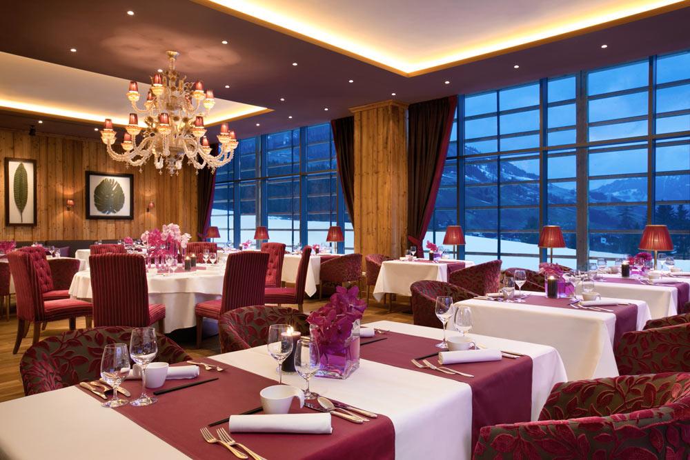 Kempinski Hotel Das Tirol Sra Bua Dining Room, Austria