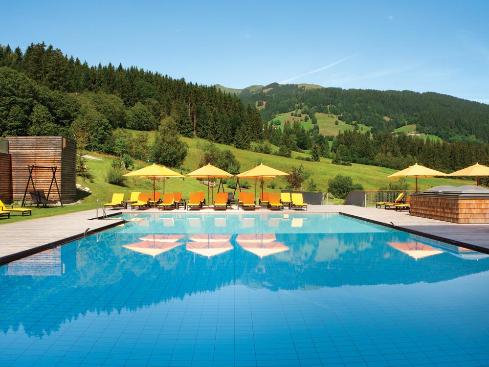 Kempinski Hotel Das Tirol outdoor pool, Austria