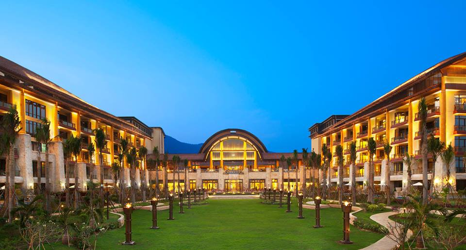 The St Regis Sanya Saylong Bay Resort Exterior View at Night