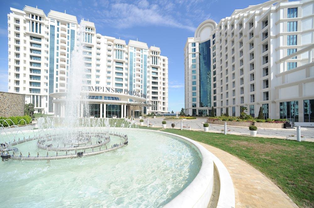 Exterior of Kempinski Hotel Badamdar Baku, Azerbaijan