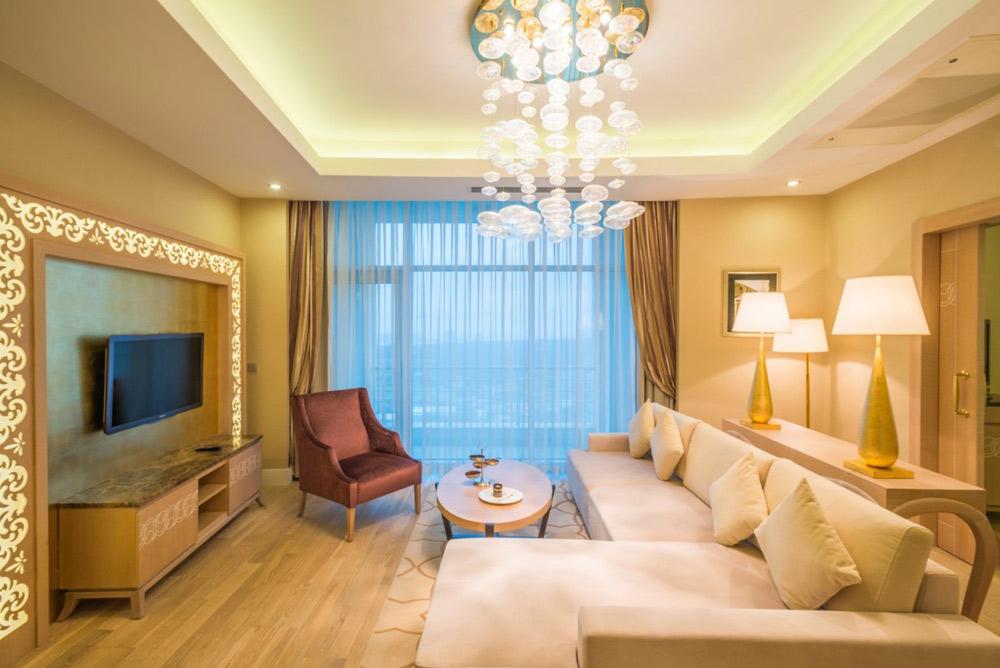 Royal Presidential Suite Living Room at Kempinski Hotel Badamdar Baku, Azerbaijan