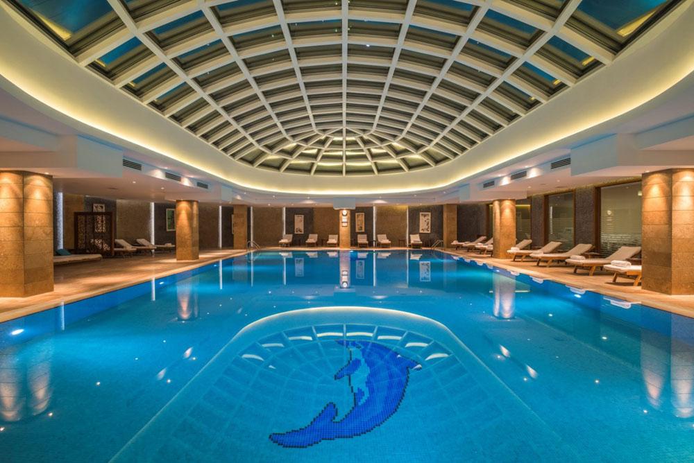 Pool at Kempinski Hotel Badamdar Baku, Azerbaijan