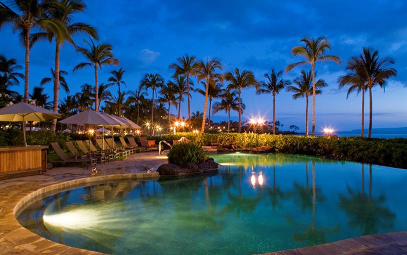 Wailea Beach Villas Pool at Night