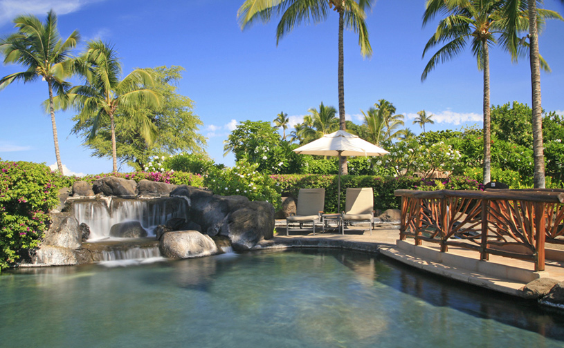 Wailea Beach Villas Pool with Waterfall