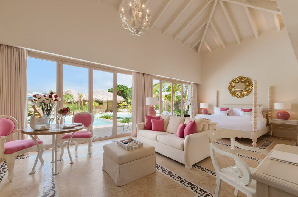 Luxury Pool Junior Suite with Lagoon Views at Eden Roc at Cap Cana, Punta Cana, Dominican Republic