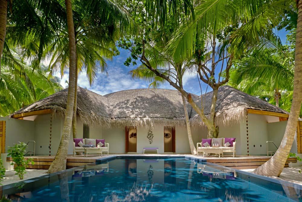 Exterior of the Devarana Spa at Dusit Thani Maldives