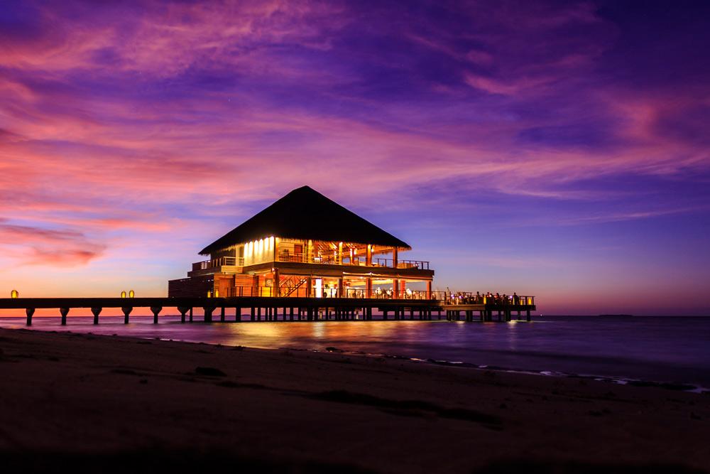 Exterior of the Benjarong Thai Dining at Dusit Thani Maldives