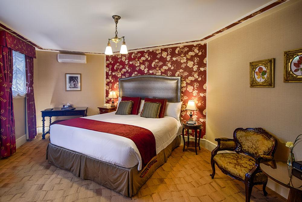 Ruby King Room at Abigails Hotel VictoriaBritish ColumbiaCanada