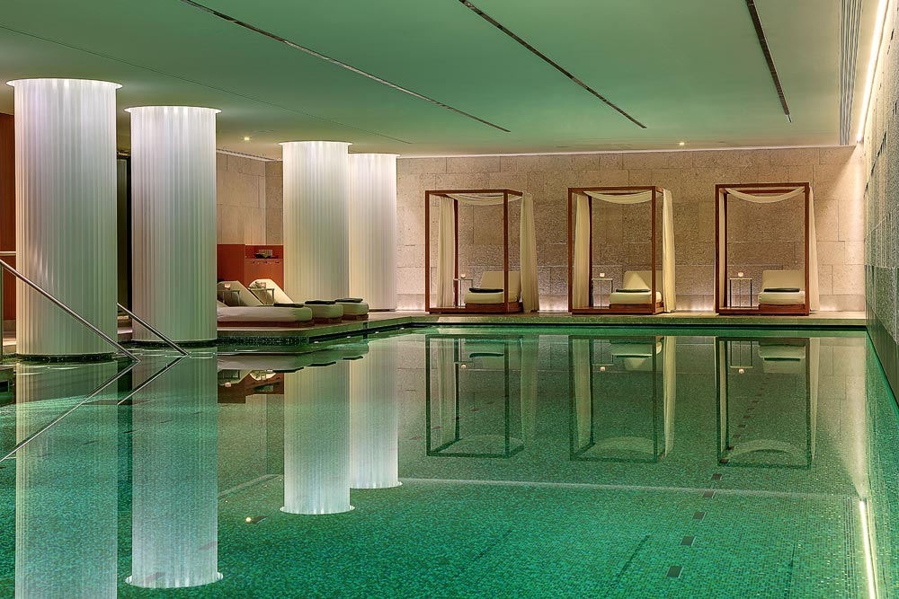 Pool at Bulgari Hotel and Residences LondonUK