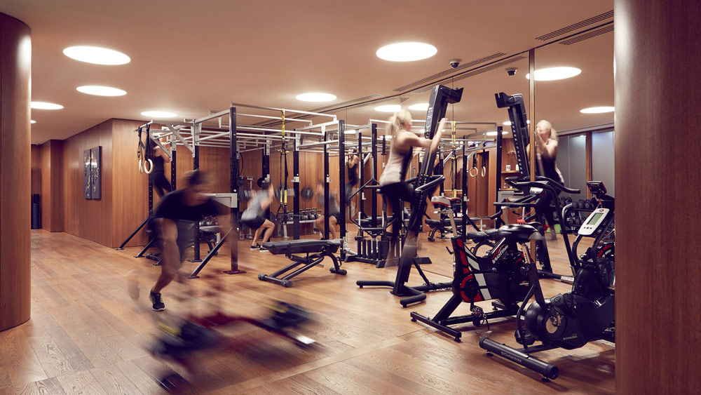 Gym at Bulgari Hotel and Residences LondonUK
