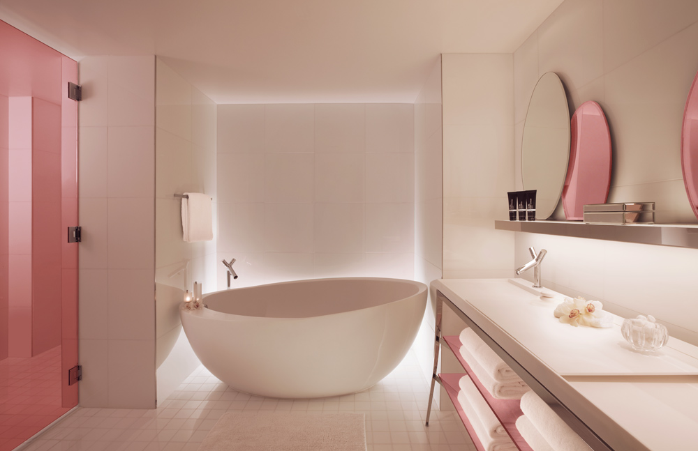 Guest Villa Bath at SLS Hotel South BeachFL