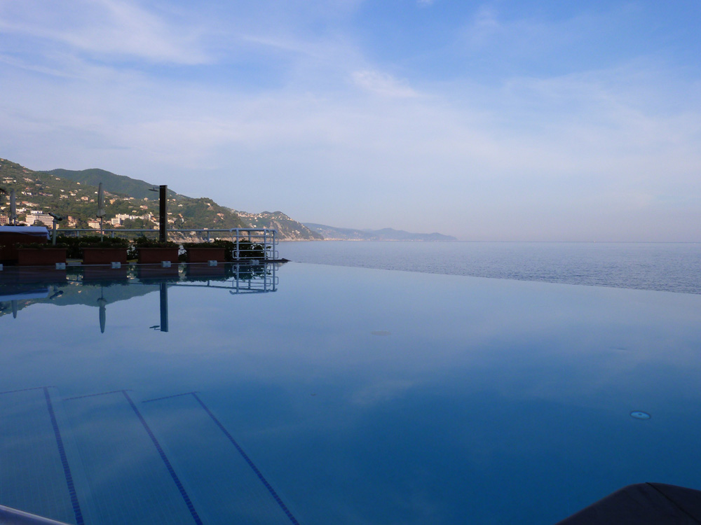Second Hotel Infinity Pool at Excelsior Palace Hotel Rapallo, Italy