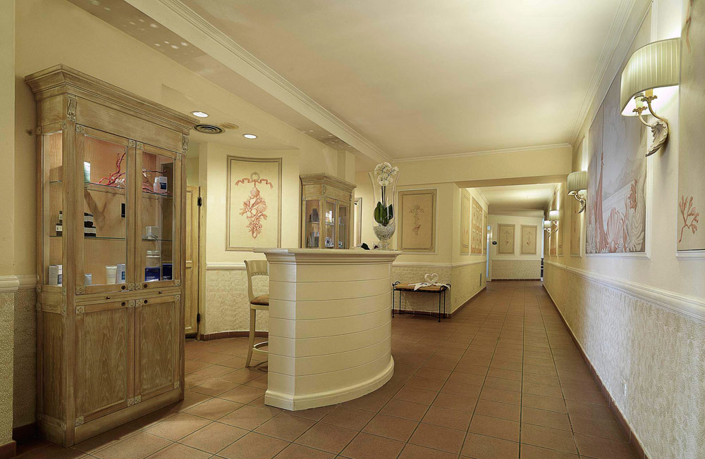 Beauty Farm Reception Area at Excelsior Palace Hotel Rapallo, Italy