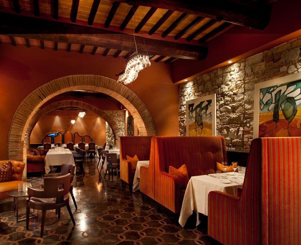 Tosca Ristorante at Hotel Castello di Casole