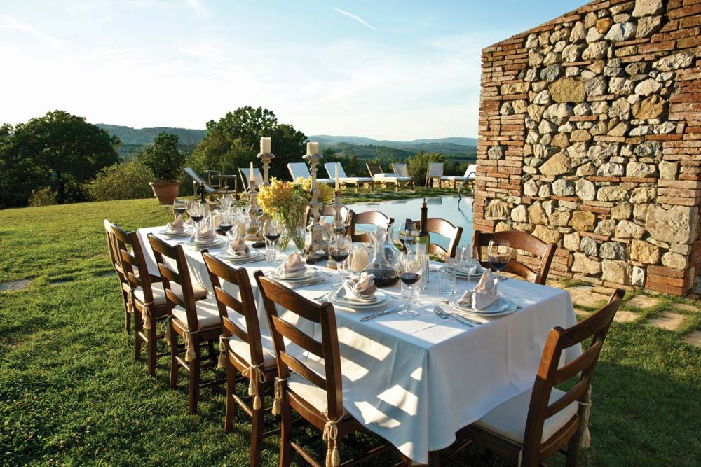 Al Fresco Dining at Hotel Castello di Casole