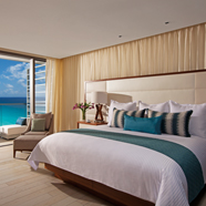 The Junior Suite Ocean View at Secrets The Vine CancunMexico