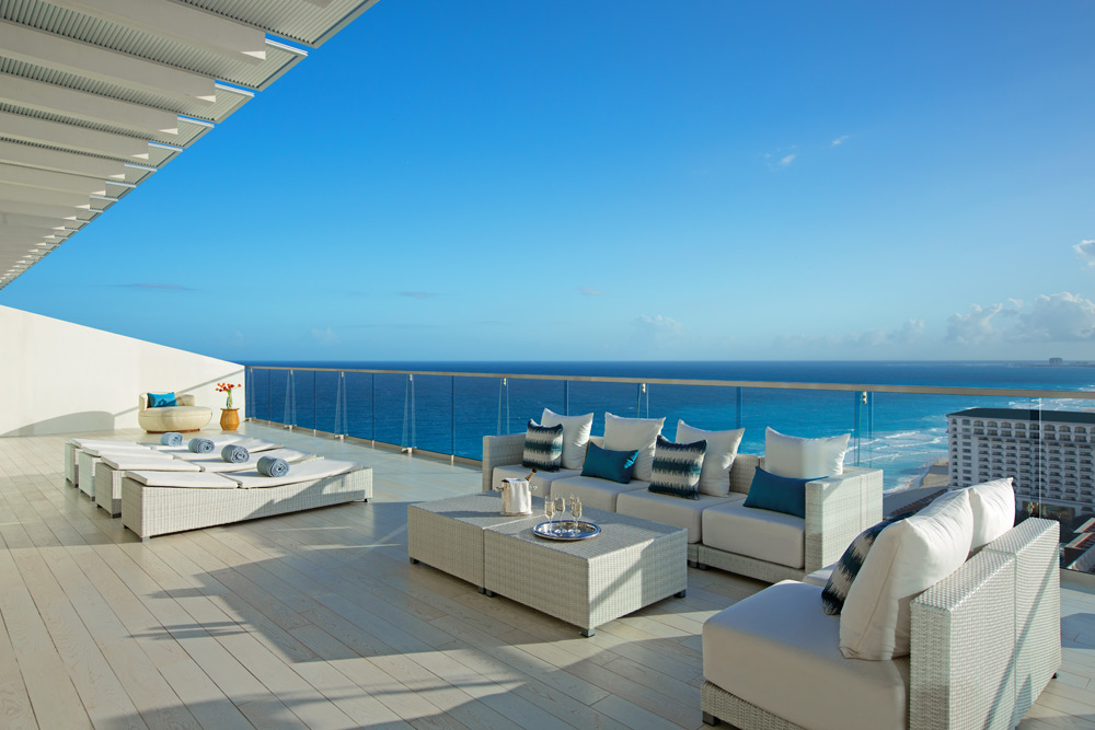 Presidential Suite terrace at Secrets The Vine CancunMexico