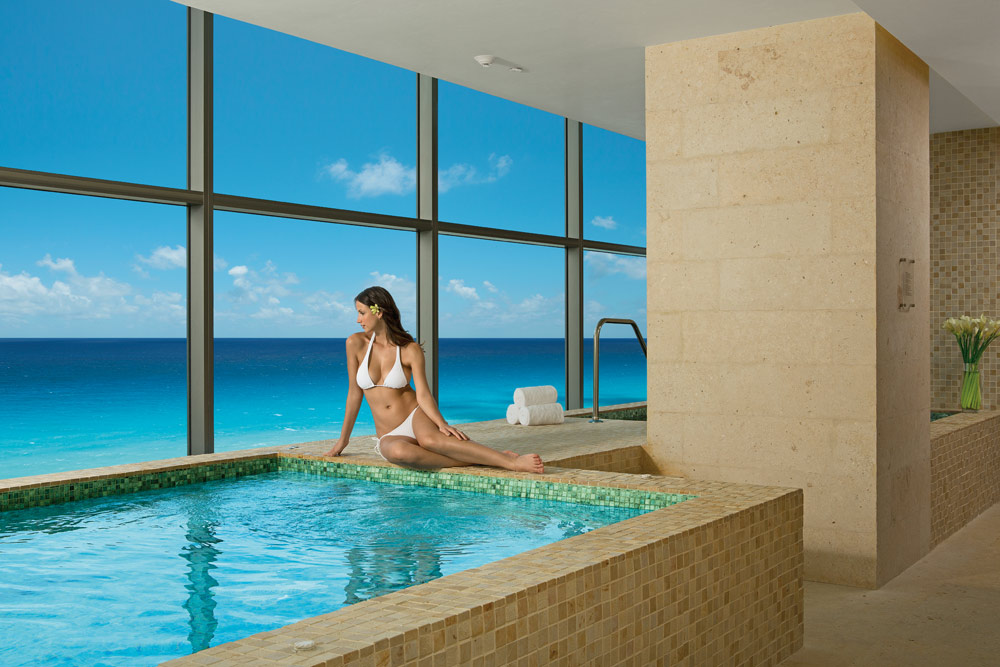 The Jacuzzi at the Secrets Spa by Pevonia at Secrets The Vine CancunMexico