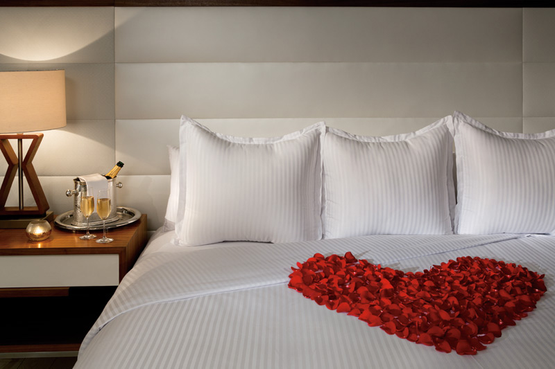 Romantic turndown service at Secrets The Vine CancunMexico